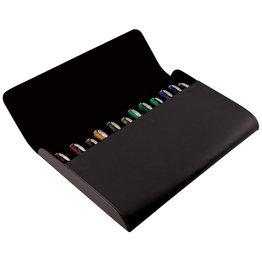 Pineider Pineider 12 Pen Leather Case Black