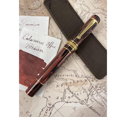 Maiora Maiora Limited Edition Liberta Magma Fountain Pen with 18k Gold Nib