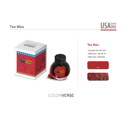 Colorverse Colorverse USA Special Series Texas Tex Mex Bottled Ink - 15ml