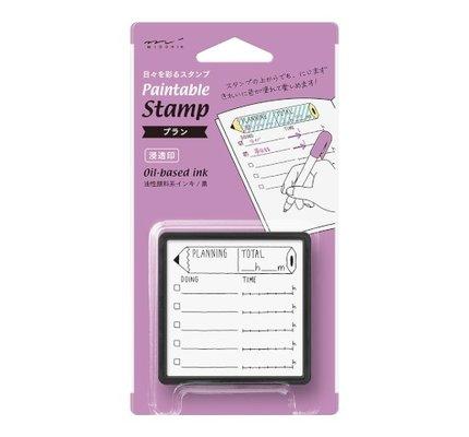Midori Paintable Stamp- Planning