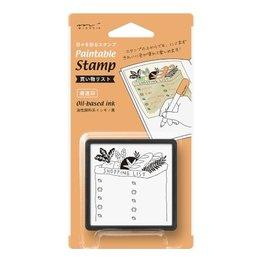 Midori Paintable Stamp-  Shopping list