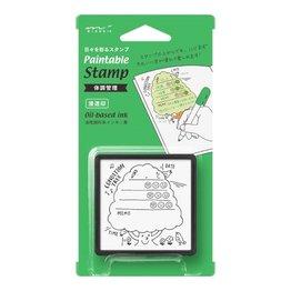 Midori Paintable Stamp- Health Management