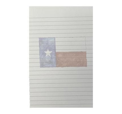 The Southern Sportsman The Southern Sportsman Phantom Notepad Texas Flag