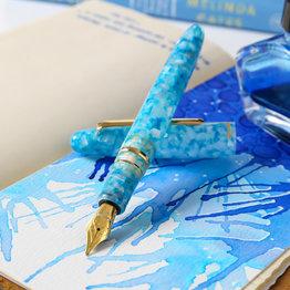 Esterbrook Esterbrook Estie Aqua Fountain Pen Gold Trim