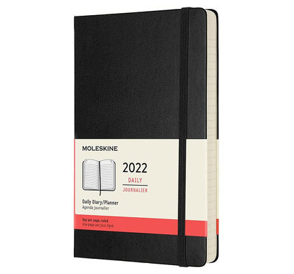 Moleskine Moleskine 2022 Large Hardcover 12-Month Daily Planner (5 x 8.25)