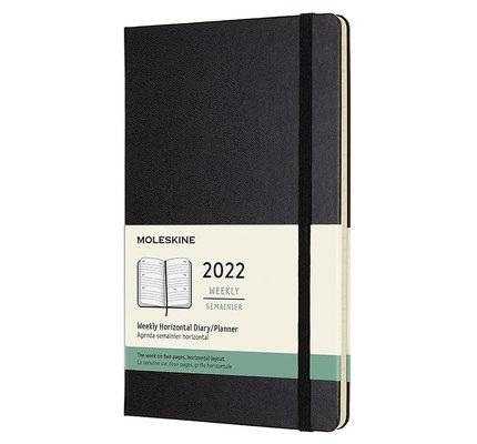 Moleskine Moleskine 2022 Large Hardcover 12-Month Weekly Horizontal Planner Black (5 x 8.25)