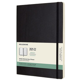 Moleskine Moleskine 2021-2022 Extra-Large Softcover 18-Month Weekly Planner Black (7.5 x 10)