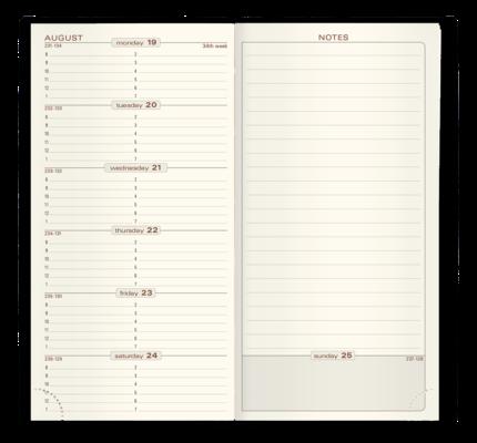 Quo Vadis 2022 Space17 Calendar Refill