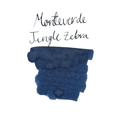 Monteverde Monteverde Jungle Bottled Ink Zebra Blue - 30ml