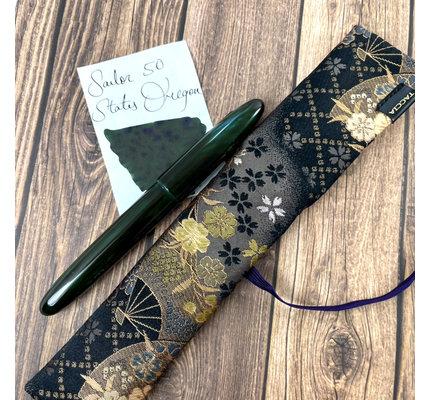 Taccia Taccia Limited Edition Miyabi Earth Ocean Aodame  Fountain Pen Broad