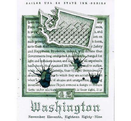 Sailor Sailor USA 50 States Ink Series - Washington 20ml Bottled Ink