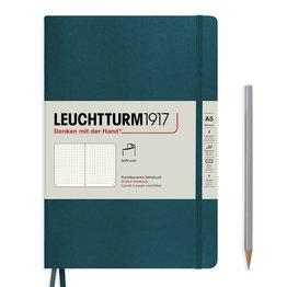 Leuchtturm1917 Leuchtturm1917 A5 Medium Softcover Notebook Pacific Green Dotted