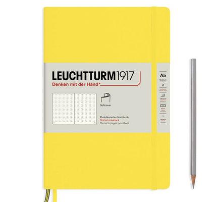 Leuchtturm1917 Leuchtturm1917 A5 Medium Softcover Notebook Lemon Dotted