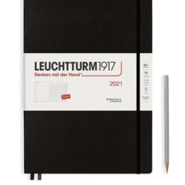 Leuchtturm1917 Leuchtturm1917 2022 Master (A4+) Hardcover Black Weekly Planner and Notebook