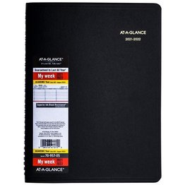 At-A-Glance 70-957-05 2021-2022 Academic 14 Month Weekly Planner/Appointment Book Black (8.25 x 10.88)