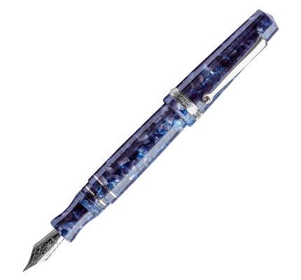 Maiora Maiora Aventus Impero Blue and Light Grey with Palladium Trim Fountain Pen