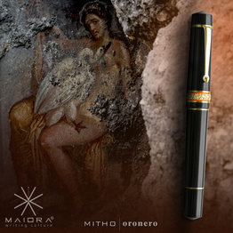 Maiora Maiora Mytho Oronero Mirror Black with Palladium Trim Fountain Pen