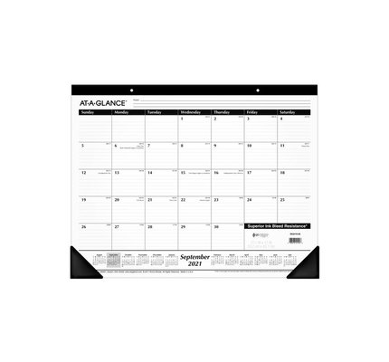 At-A-Glance SK2416-00 2021-2022 Academic Year Desk Pad (17x22)