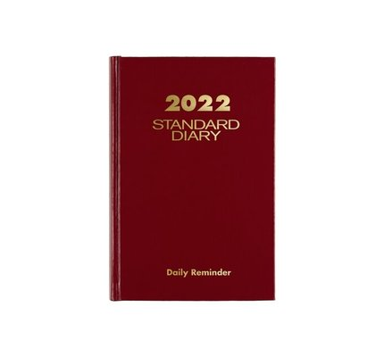 """At-A-Glance SD387-13 2022 Standard Diary Daily Reminder Red (5"""" x 7 1/2"""")"""