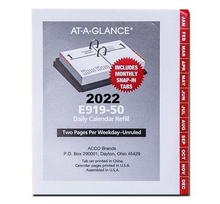"At-A-Glance 2022 E919-50 2022 Daily Calendar Refill (4"" x 3"")"