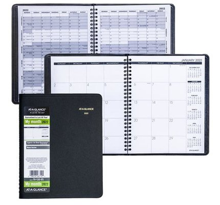 """At-A-Glance 70-120 2022 Monthly Planner Navy Medium (7"""" x 8.75"""")"""
