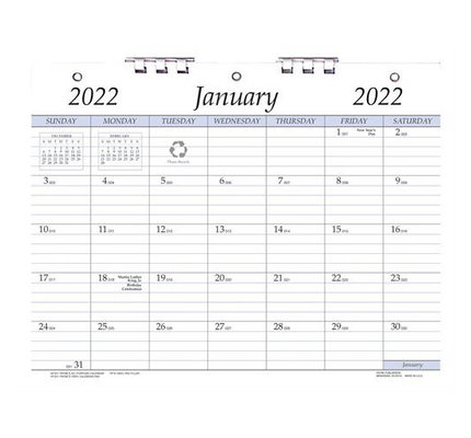 Payne 2022 AP-811 Monthly Wall Calendar with 3-Hole Punch (8.5 x 11)