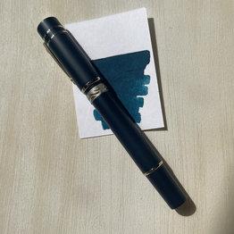 Nettuno 1911 Neos Ulissa Matte Blue with Palladium Trim Fountain Pen