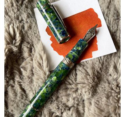 Nettuno 1911 Neos Atlante Green and Blue with Palladium Trim Fountain Pen