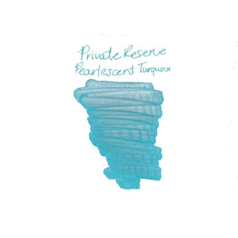 Private Reserve Private Reserve Pearlescent Turquoise-Silver Bottled Ink - 60ml