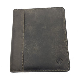 Dee Charles Dee Charles 12-Pen Zipper Case - Olive with Olive Stitching