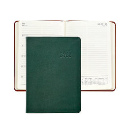Graphic Image Graphic Image 2022 Traditional Leather WJ7 5 x 7 Weekly Journal - Green