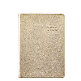Graphic Image Graphic Image 2022 Metallics Leather WJ7 5 x 7 Weekly Journal - White Gold