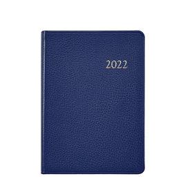 Graphic Image Graphic Image 2022 Goatskin Leather WJ7 5 x 7 Weekly Weekly Journal - Indigo