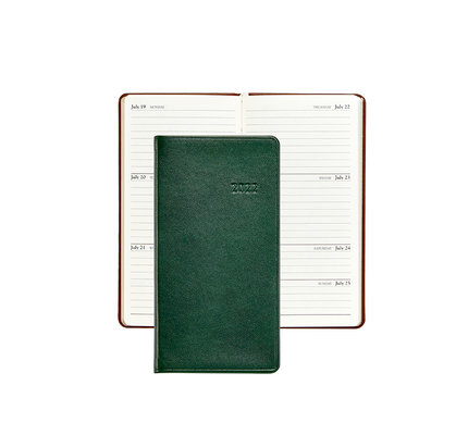 """Graphic Image Graphic Image 2022 Traditional Leather PJ6 6"""" Personal Pocket Weekly Journal - Green"""
