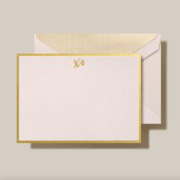 Crane Crane Light Pink Foil Stamped XO Card