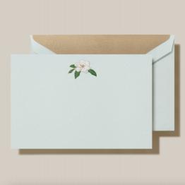 Crane Crane Beach Glass Engraved Magnolia Card