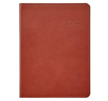 Graphic Image Graphic Image 2022 Traditional Leather DDV Desk Diary - Maple