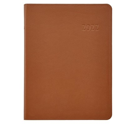 Graphic Image Graphic Image 2022 Traditional Leather DDV Desk Diary - British Tan