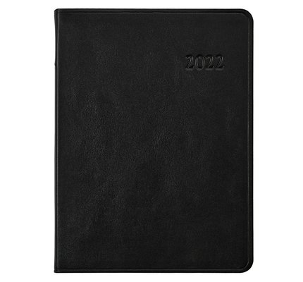 Graphic Image Graphic Image 2022 Traditional Leather DDV Desk Diary - Black