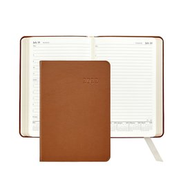 Graphic Image Graphic Image 2022 Traditional Leather AJL Daily Journal - British Tan