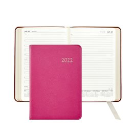 Graphic Image Graphic Image 2022 Goatskin Leather AJL Daily Journal - Pink