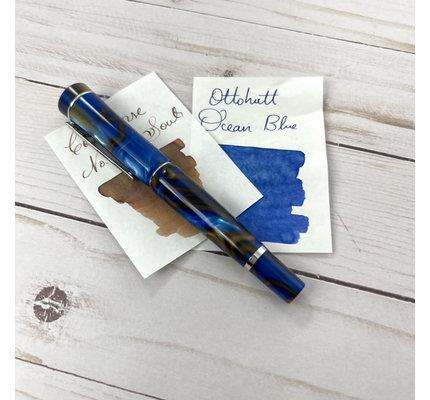 Laban Laban Scepter Fountain Pen Blue Tornado