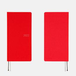 Hobonichi Hobonichi Weeks Mega 2022 Colors: Bright Red
