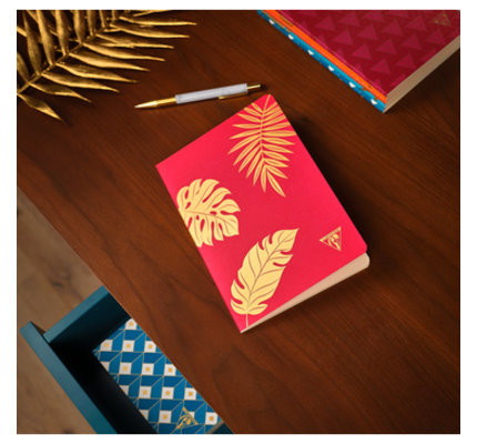 Clairefontaine Clairefontaine #194336 Neo Deco Notebook - Madder Red