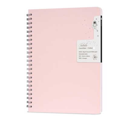 Colorverse Colorverse Nebula Casual A5 Notebook - Baby Pink
