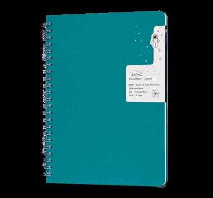 Colorverse Colorverse Nebula Casual A5 Notebook - Turquoise