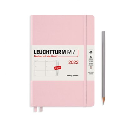 Leuchtturm1917 Leuchtturm1917 2022 Medium (A5) Hardcover Weekly Planner with Extra Booklet