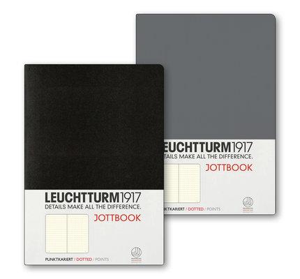 Leuchtturm1917 Leuchtturm1917 Jottbook Double Medium (A5) Flexcover - Anthracite & Black