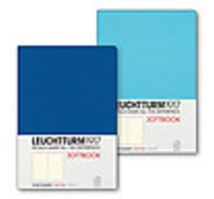 Leuchtturm1917 Leuchtturm1917 Jottbook Double Medium (A5) Flexcover - Ice Blue and Royal Blue