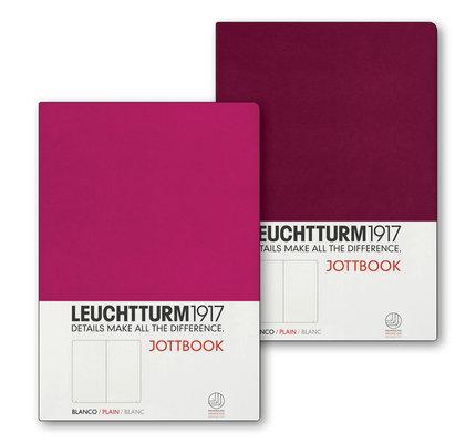 Leuchtturm1917 Leuchtturm1917 Jottbook Double Medium (A5) Flexcover - Berry and Port Red